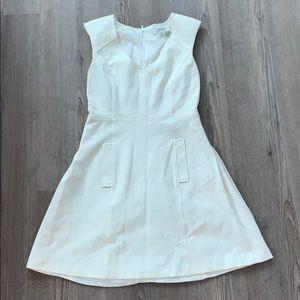 tibi white mini dress, small